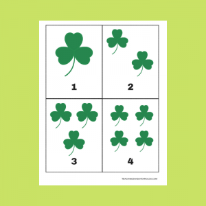 Free St. Patrick's Day Shamrock 1-10 Counting Cards Printable