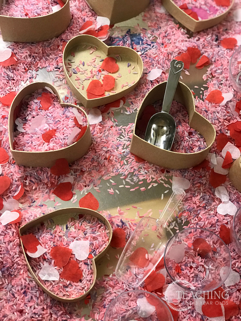 How to Put Together an Easy Toddler Valentine's Day Sensory Bin