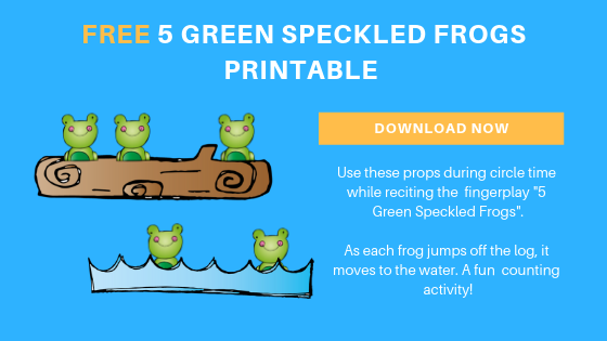 Free 5 Green Freckled Frog Printables
