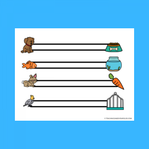 Free Pets Left to Right Fine Motor Printable