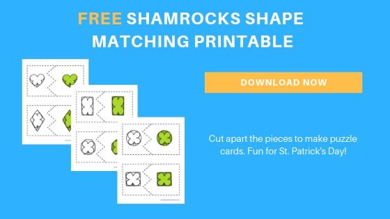 free toddler preschool st. patrick's day shamrock shapes printables