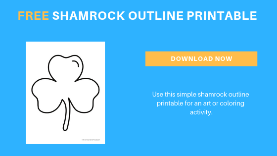 free toddler preschool shamrock printable