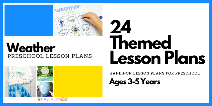 preschool lesson plans weather