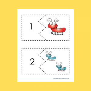 Free Bug Counting Puzzles Printable