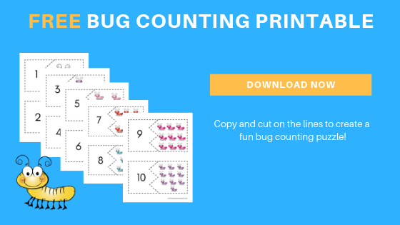free toddler preschool bugs counting printables
