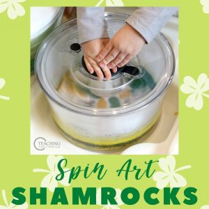 Salad Spinner Shamrock Art Activity