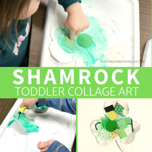 Toddler Shamrock Collage Art for St. Patrick's Day
