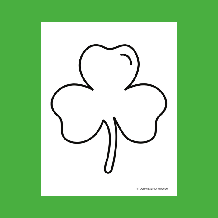 photograph relating to Shamrock Outline Printable identify Free of charge Shamrock Determine Printable