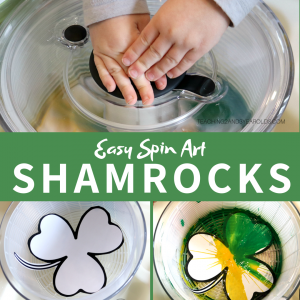 Toddler and Preschool Shamrock Color Mixing Activity