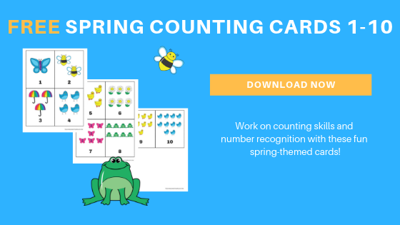 free toddler preschool spring counting printable