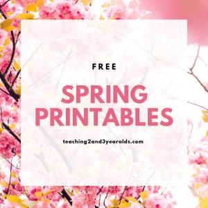 free toddler preschool spring printables