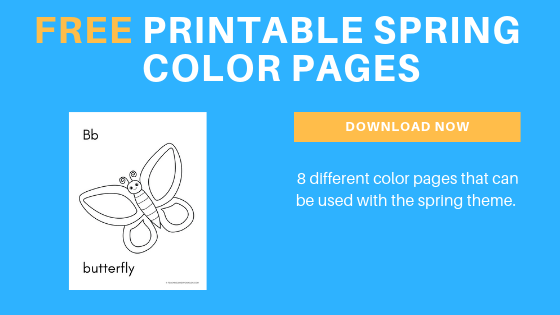 free toddler preschool printable spring color pages