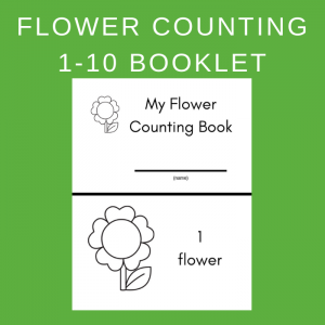 Free Flower Counting Book Printable