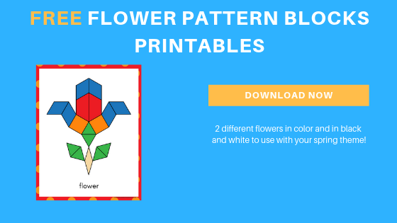 image regarding Printable Pattern Blocks named Free of charge Spring Flower Routine Blocks Printables