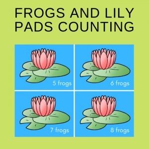 Free Frogs and Lily Pads Counting Cards