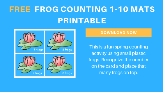 Free Preschool Frog Counting Printables