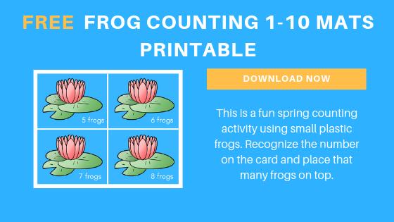 Free Preschool Frog Counting Printables
