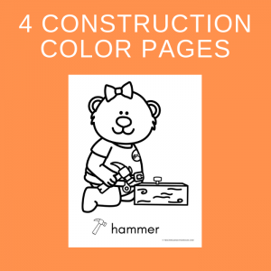 Free Construction Themed Color Pages