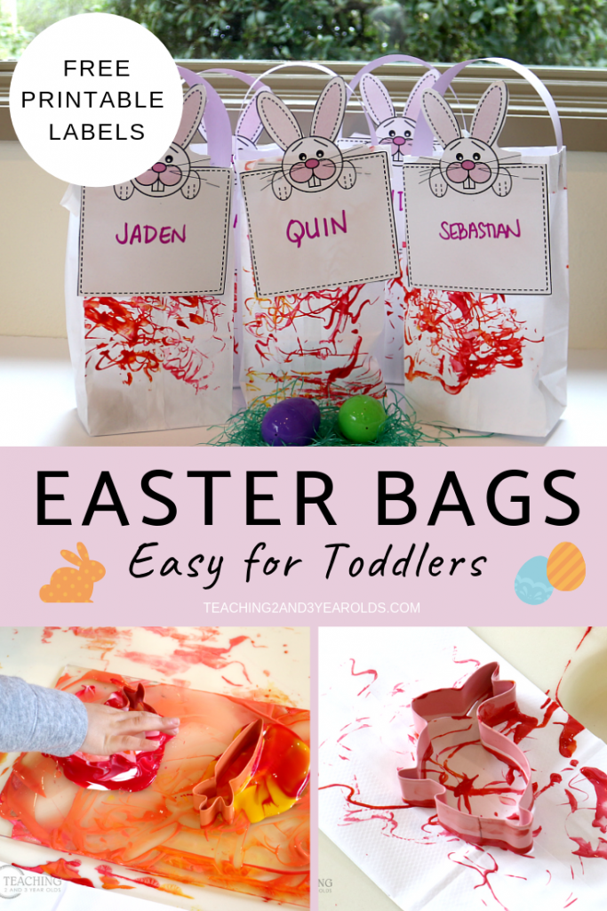 photo relating to Free Printable Classroom Labels for Preschoolers titled Very simple Child Easter Baggage with Totally free Printable Labels