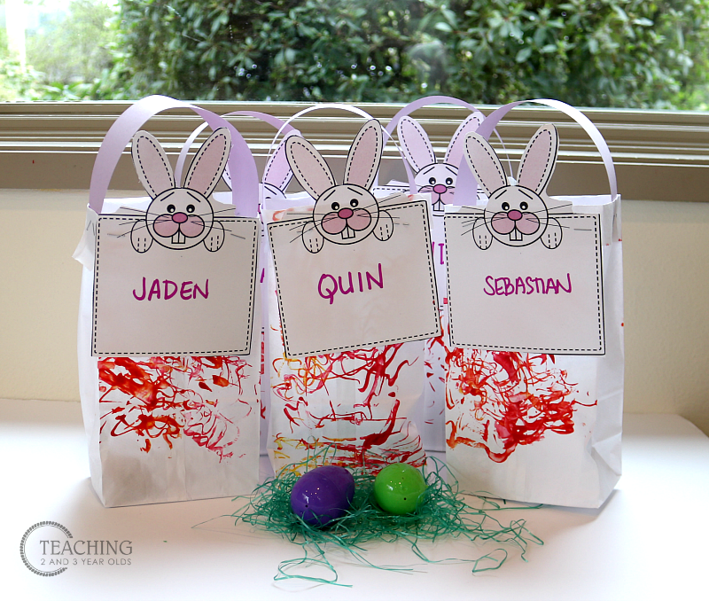 Easy Toddler Easter Bags with Free Printable Labels