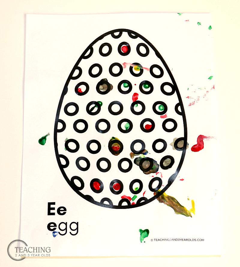 Free Spring Egg Fine Motor Printable