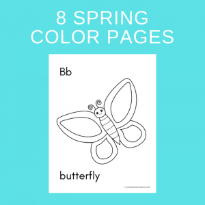 8 Free Printable Spring Color Pages