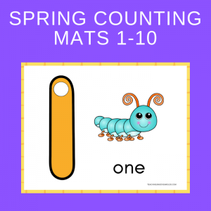 Free Spring 1-10 Counting Mats