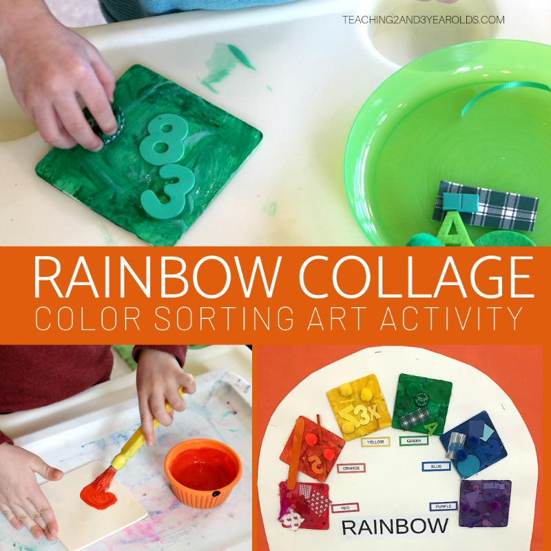 How to Create Rainbow Collage Art for Classroom Display