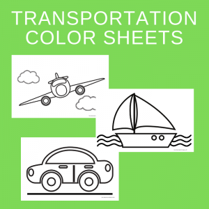 Free Large Transportation Color and Paint Printables