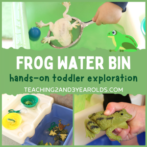 How to Put Together a Toddler Frog Activity at the Water Table