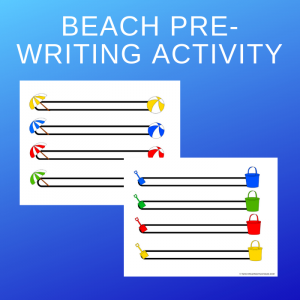 Free Beach Left-to-Right Fine Motor Printable