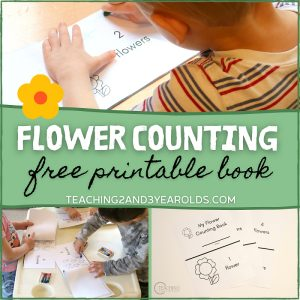garden printable counting book