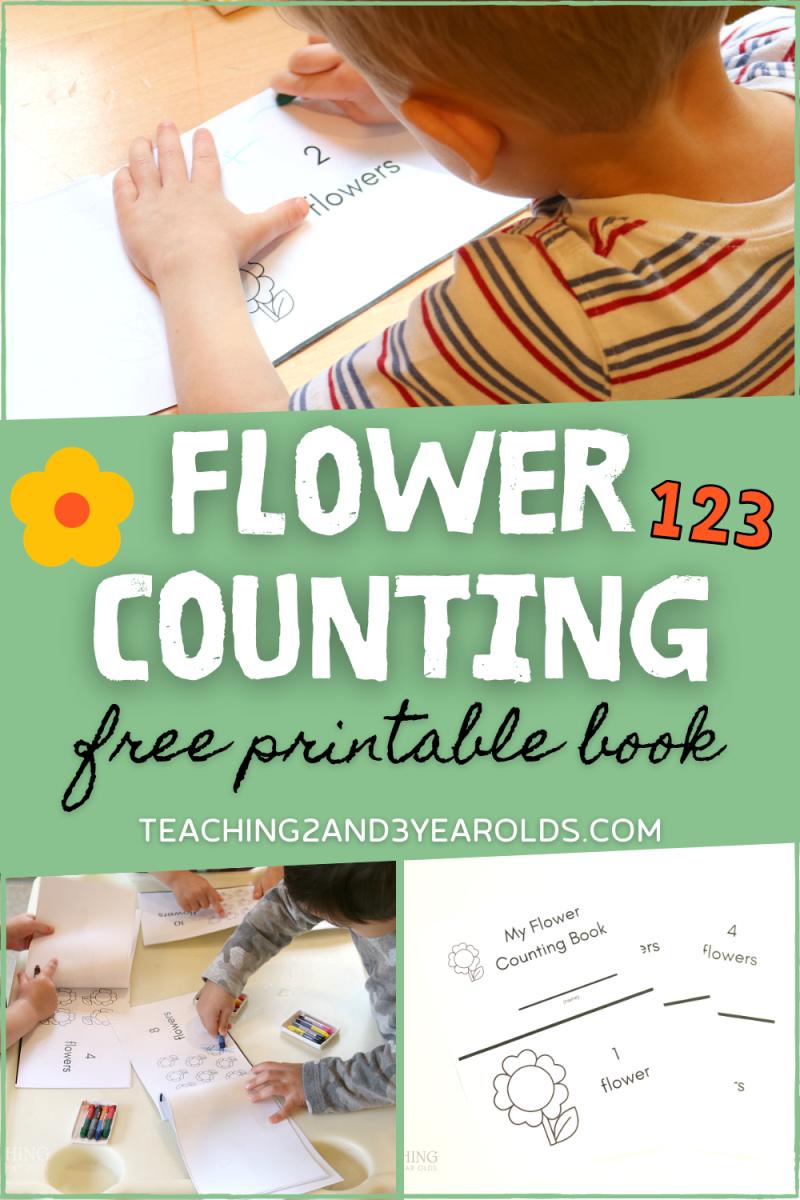 garden printable counting book