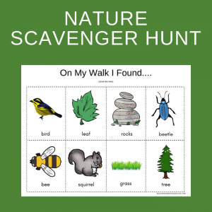 Free Simple Nature Scavenger Hunt for Toddlers