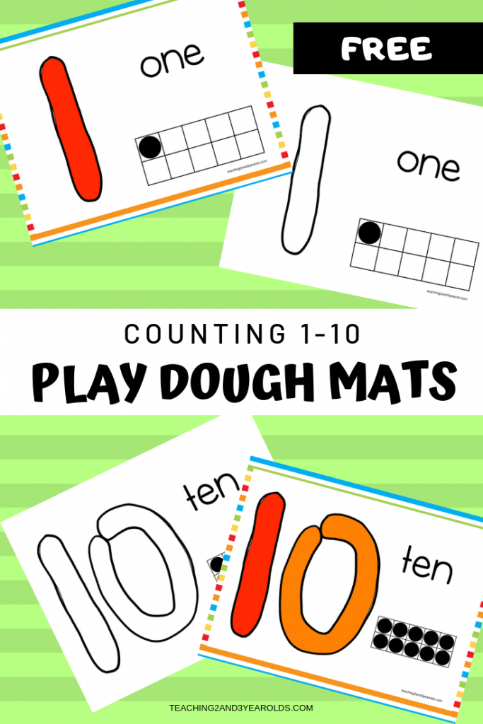 photo about Free Printable Playdough Mats known as No cost Counting Perform Dough Printable Mats for Infants and