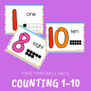 Free Counting Play Dough Printable Mats for Toddlers and Preschoolers