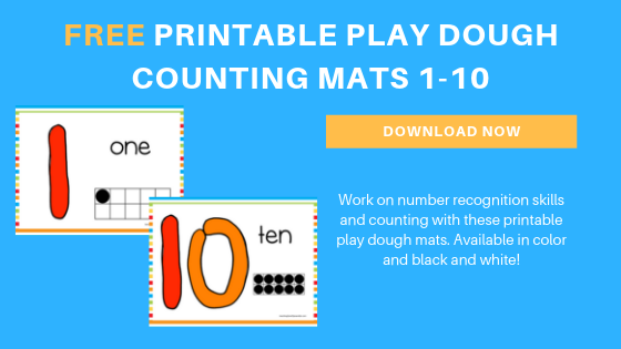graphic relating to Printable Mats called Free of charge Counting Enjoy Dough Printable Mats for Babies and
