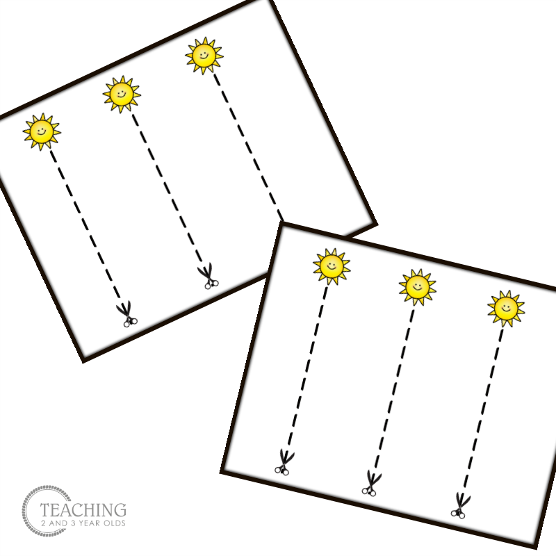 Strengthen Scissor Skills with Fun Summer Cutting Cards