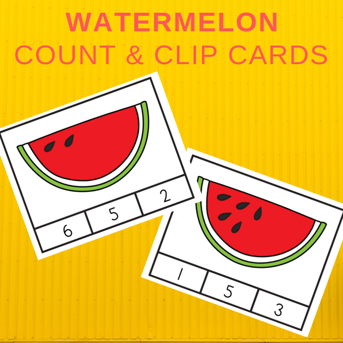 photo regarding Watermelon Printable called Totally free Watermelon Depend and Clip Playing cards