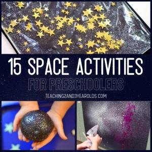 15 Amazing Preschool Space Activities