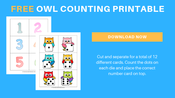 free preschool owl counting printable activity