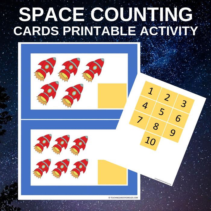 preschool space rocket counting activity printable