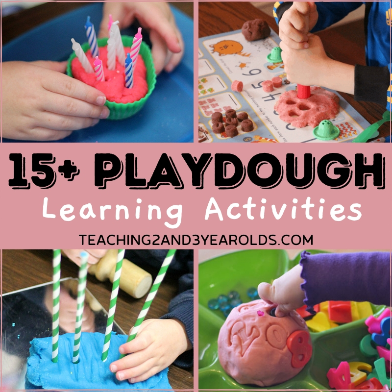 Playdough Learning Activities for Toddlers and Preschoolers