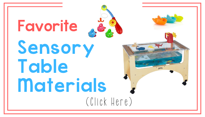 favorite sensory table materials