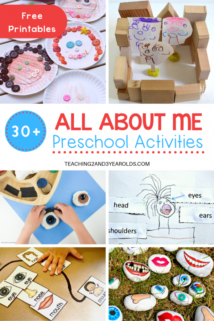 image about Free Printable All About Me Poster called 30+ All Around Me Topic Actions for Preschoolers