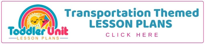 toddler transportation lesson plans