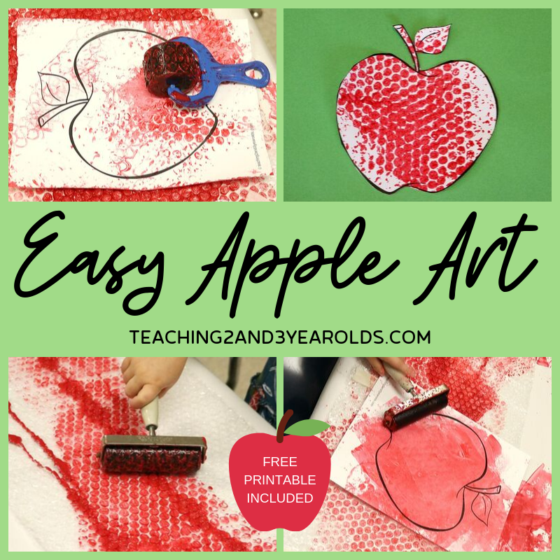 Easy and Fun Apple Art for Toddlers