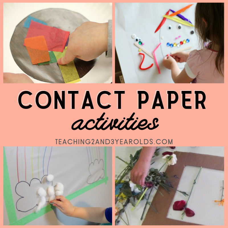 Contact Paper Activities for Toddlers and Preschoolers