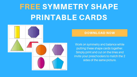 Free Shapes Symmetry Printable Cards