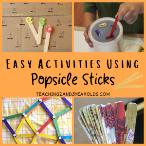 10 Easy Popsicle Stick Activities for Toddlers and Preschoolers